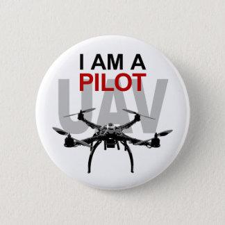 UAV Quadpilot Quadcopter Pilot Pinback Button