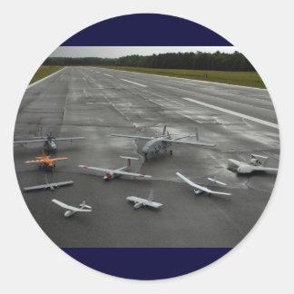 UAV ramp Classic Round Sticker