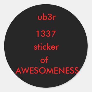 ub3r sticker