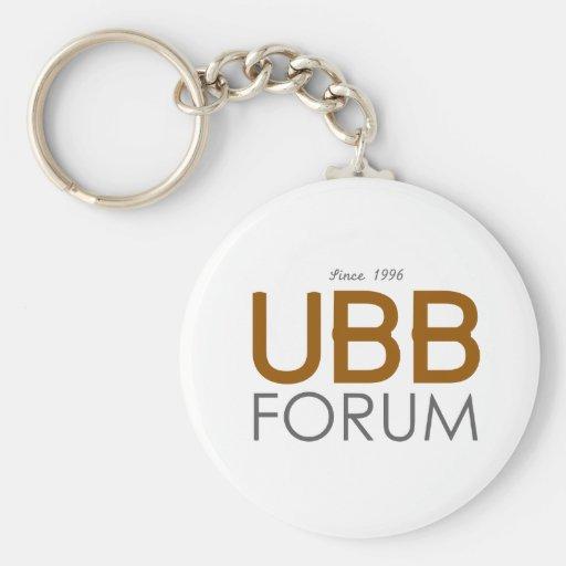 UBB Forum Swag Basic Round Button Keychain