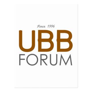 UBB Forum Swag Postcard