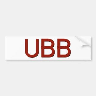 UBB Swag Bumper Sticker