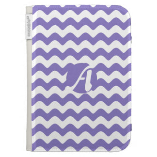 Ube and White Waves Monogram Kindle 3G Covers