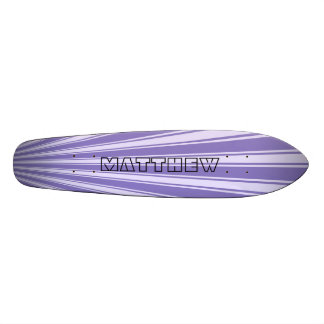 Ube Color Stripe Funky Pattern Skateboard Deck