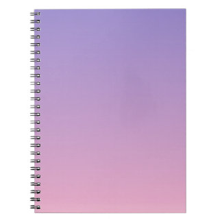 Ube to Cotton Candy Horizontal Gradient Spiral Notebooks