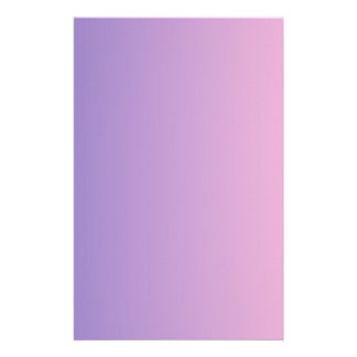 Ube to Cotton Candy Vertical Gradient Stationery Paper