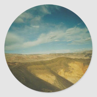 Ubehebe Crater- Death Valley Classic Round Sticker