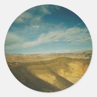 Ubehebe Crater- Death Valley Round Sticker