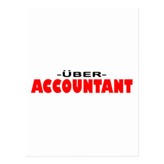 Uber Accountant Postcard