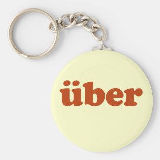 Uber Basic Round Button Keychain