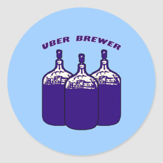 Uber Brewer Classic Round Sticker