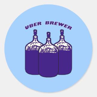 Uber Brewer Classic Round Sticker