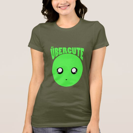 Über Cute Green Smiley T-Shirt