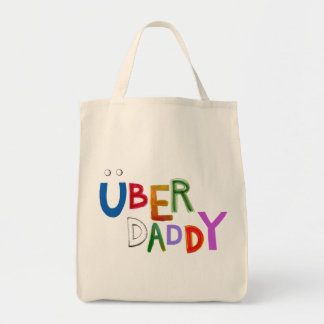 Uber Daddy good dad father super fun art words Tote Bag