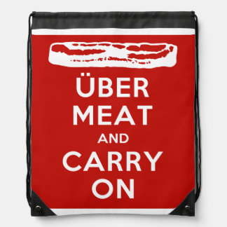 Über Meat And Carry On - Bacon Drawstring Backpack