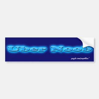 Uber Noob Neon Blue Bumper Sticker