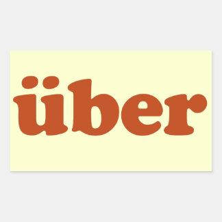 Uber Rectangular Sticker