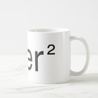 über² v 2.0 blanc coffee mug