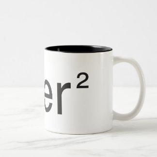 über² v 2.0 blanc Two-Tone coffee mug