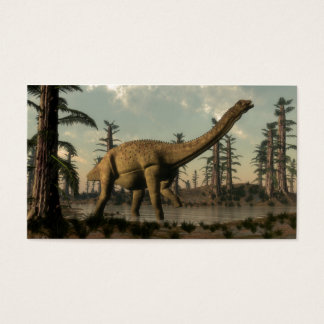 Uberabatitan dinosaur in the lake business card