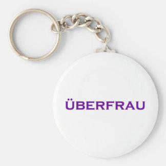 ¡Uberfrau - Superwoman! Llavero Redondo Tipo Pin