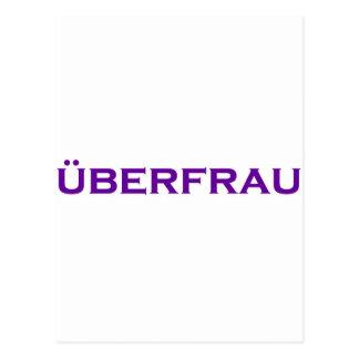 Uberfrau - Superwoman! Postcard