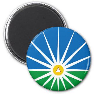 Uberlandia Minasgerais bandera del Brasil, el Bras Imán Redondo 5 Cm