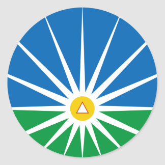 Uberlandia Minasgerais bandera del Brasil, el Pegatina Redonda