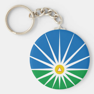 Uberlandia Minasgerais Brasil, Brazil flag Keychain