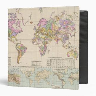Ubersicht der Erde - Overview of the Earth Map 3 Ring Binder