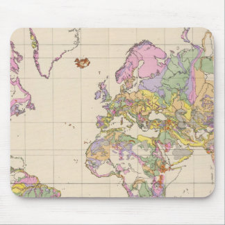 Ubersicht der Erde - Overview of the Earth Map Mouse Pad