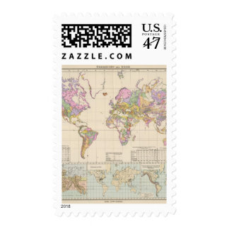 Ubersicht der Erde - Overview of the Earth Map Postage