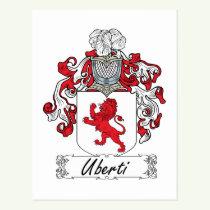 Uberti Family Crest Postcard
