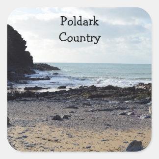 Ubicación de Cornualles Inglaterra Poldark de la Pegatina Cuadrada