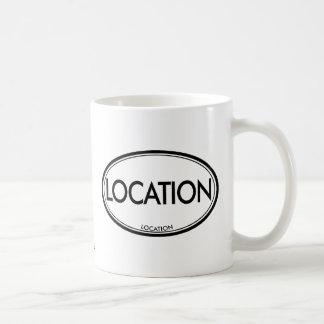 Ubicación de la ubicación tazas de café