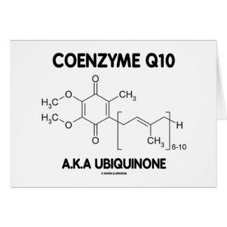 Ubiquinona de la coenzima Q10 A.K.A. (molécula Tarjeta De Felicitación