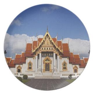Ubosot Hall or Bot, Wat Benchamabophit, Bangkok, Plates
