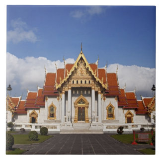 Ubosot Pasillo o Bot, Wat Benchamabophit, Bangkok, Azulejo Cuadrado Grande