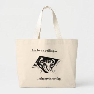 Ubservin u del gato del techo… bolsa de mano