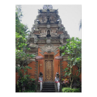 Ubud Village Bali Poster