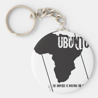 Ubuntu.ai Basic Round Button Keychain