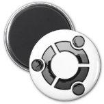 Ubuntu (chrome) fridge magnet