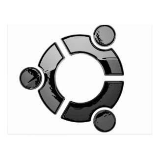 Ubuntu (chrome) postcard