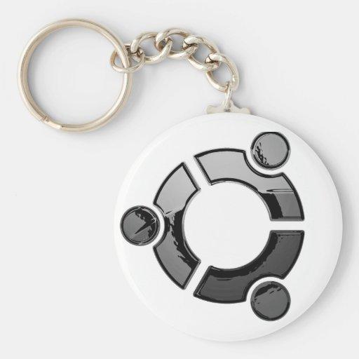 Ubuntu (cromo) llavero redondo tipo pin