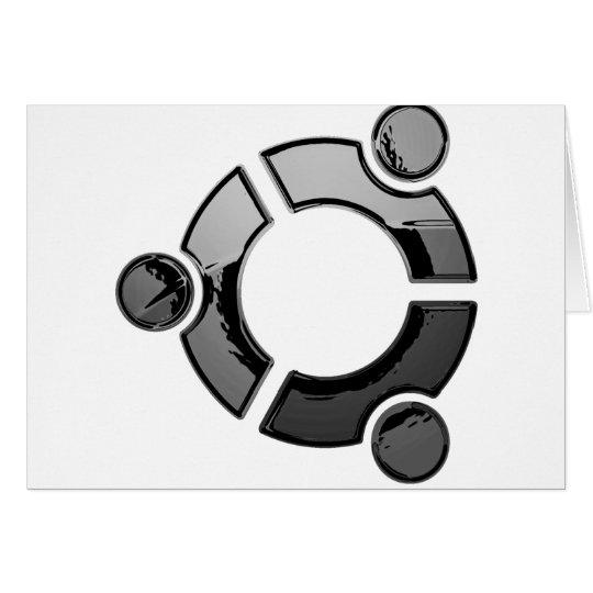 Ubuntu (cromo) tarjeta de felicitación