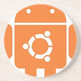 Ubuntu Droid Linux Tshirt Code ubuntudroid Coaster