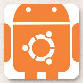 Ubuntu Droid Linux Tshirt Code ubuntudroid Drink Coaster