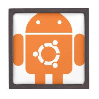 Ubuntu Droid Linux Tshirt Code ubuntudroid Premium Jewelry Boxes
