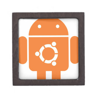 Ubuntu Droid Linux Tshirt Code ubuntudroid Premium Keepsake Box
