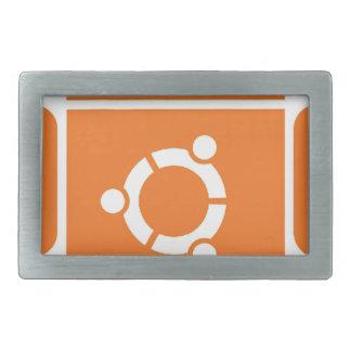 Ubuntu Droid Linux Tshirt Code ubuntudroid Rectangular Belt Buckle